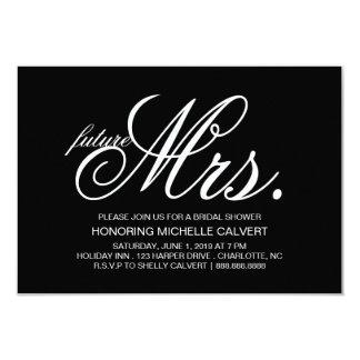 """Invite - future Mrs. 3.5"""" X 5"""" Invitation Card"""