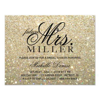 Invite - Gold Glit Fab future Mrs. Bridal Shower 2