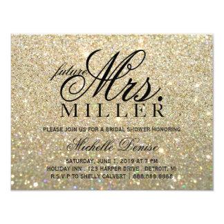 Invite - Gold Glit Fab future Mrs. Bridal ShowerII