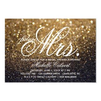 Invite - Gold Lit Nite Bridal Shower future Mrs.