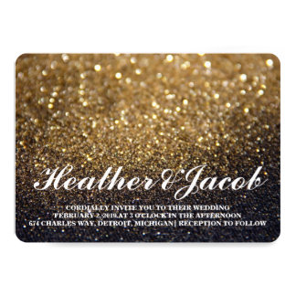 Invite - Gold Lit Nite Fab Wedding