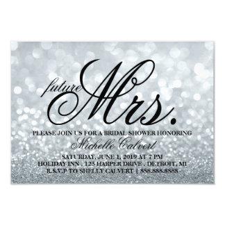 Invite - Lit Glitter Bridal Shower future Mrs.