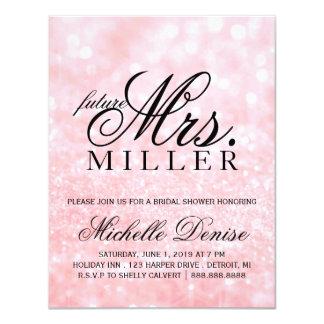 Invite - Lit Pink Glit Fab future Mrs. Bridal