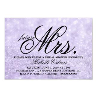 Invite - Lit Purple Glit Bridal Shower future Mrs.