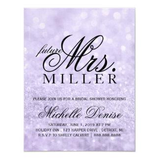 Invite - Lit Purple Glit Fab future Mrs. Bridal
