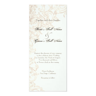 Invite, long - Wings of Love Wedding Collection