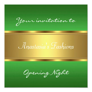 Invite Opening Night Green Gold