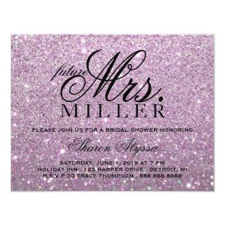 Invite - Purple Glit Future Mrs. Bridal Shower