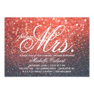 Invite - Red Lit Nite Bridal Shower future Mrs.