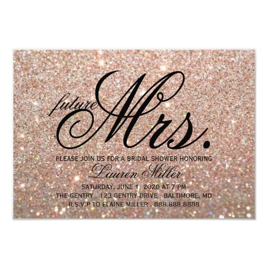 Invite - Rose Gold Glit Fab future Mrs.