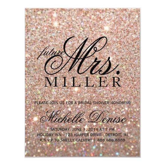 Invite - Rose Gold Glit Fab future Mrs.