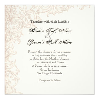 Invite Square - Wings of Love Wedding Collection