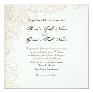 Invite, Square - Wings of Love Wedding Collection