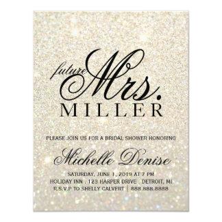 Invite - White Gold Glit Fab future Mrs. Bridal