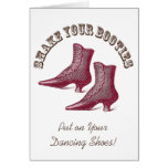 Invite Your Partner to a Dance - Victorian Booties Greeting Cards