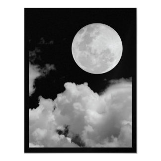 INVITES - FULL MOON CLOUDS BLACK AND WHITE