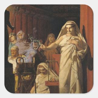 Invocation of Neptune, 1866 Square Sticker
