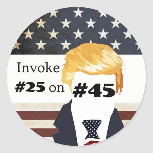 """Invoke #25 Ammendment on #45"" Classic Round Sticker"