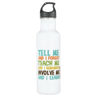 Involve Me Inspirational Quote 710 Ml Water Bottle