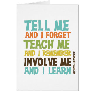 Involve Me Inspirational Quote Card