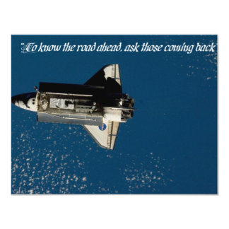 "INVT card, ""To know...road...ask those coming..."" 11 Cm X 14 Cm Invitation Card"