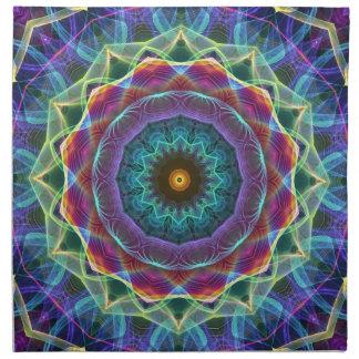 Inward Flower  kaleidoscope Napkin