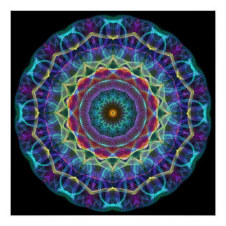 Inward Flower  kaleidoscope Poster