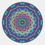 Inward Flower  kaleidoscope Round Sticker
