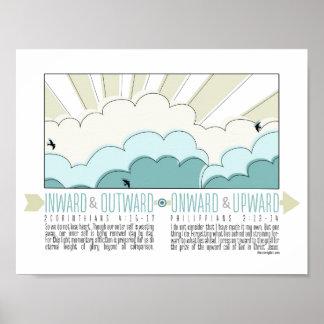 Inward, Outward, Onward, Upward Inspirational Post Poster
