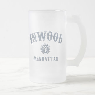 Inwood 16 Oz Frosted Glass Beer Mug