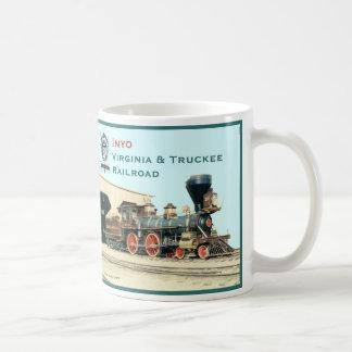 Inyo-Virginia and Truckee Railroad engine mug
