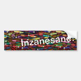 Inzanesane's Crayon Bumper Sticker
