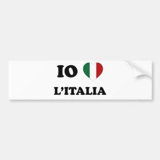 Io Amo Italia Bumper Stickers