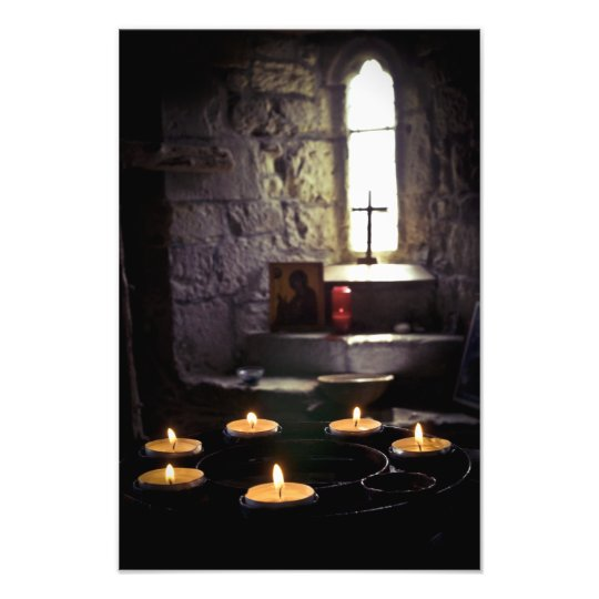 Iona Abbey Candles Photo Print