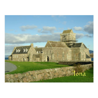Iona Abbey Scotland Postcard