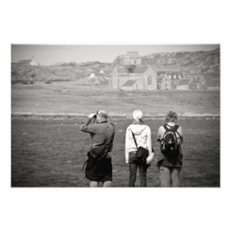 Iona Abbey Tourists Photo Print