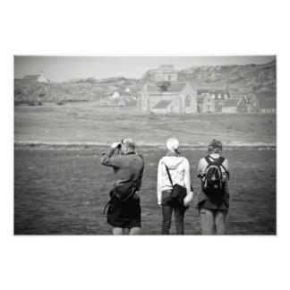 Iona Abbey Tourists Photographic Print