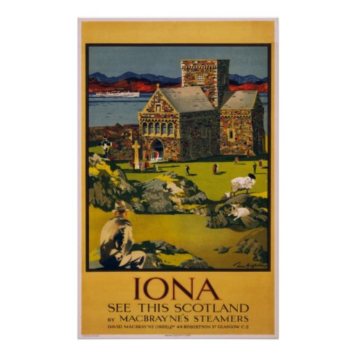 Iona - See this Scotland - Vintage Travel