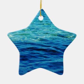 Ionian Sea Ceramic Star Decoration