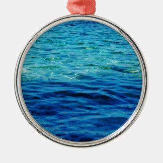 Ionian Sea Silver-Colored Round Decoration