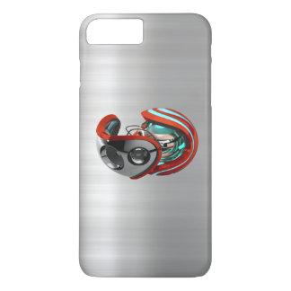 iORBIT RED Brushed Chrome Print iPhone 7 Case
