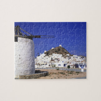 Ios, Greece. The beautful and crisp, white and Jigsaw Puzzle