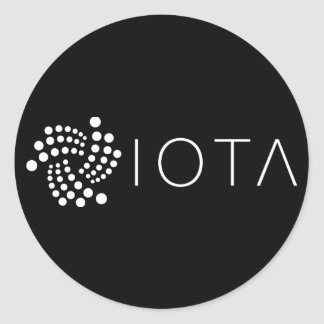 IOTA Classic Stickers Black (Sheet of 20)