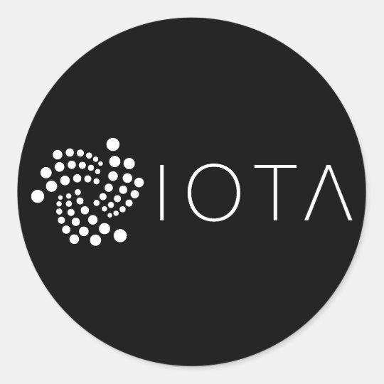 IOTA Classic Stickers Black (Sheet of 20)