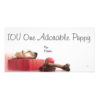 IOU One Adorable Puppy Photo Card Template