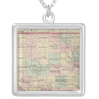 Iowa 2 silver plated necklace