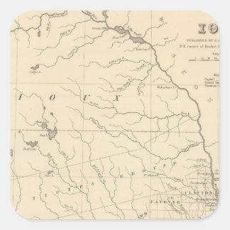 Iowa 2 square sticker