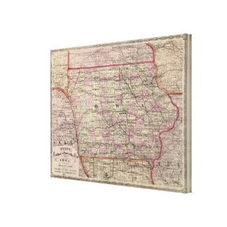 Iowa 5 canvas print