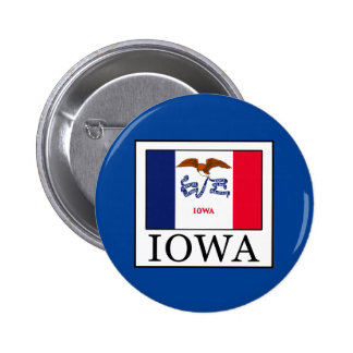 Iowa 6 Cm Round Badge