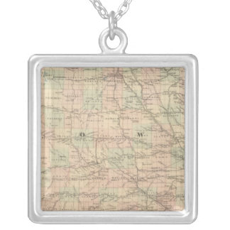 Iowa 6 silver plated necklace